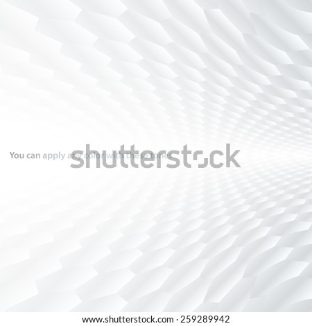 Abstract halftone perspective background with white and gray tones - stock vector
