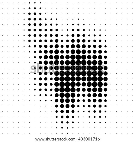 Abstract halftone soundwave design element isolated on white background - stock vector