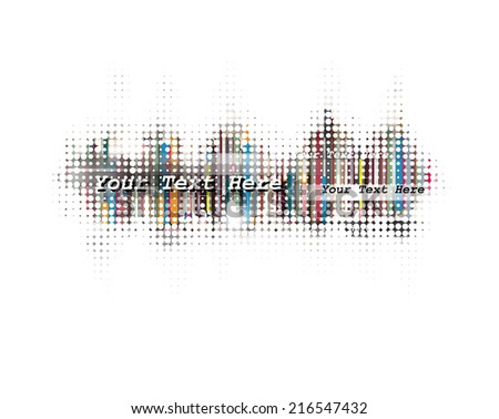 Abstract Halftone Vector Background - stock vector