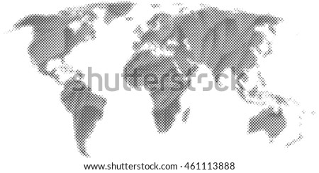 Abstract halftone world map vector isolated stock vector 461113888 abstract halftone world map vector isolated eps 10 gumiabroncs Images