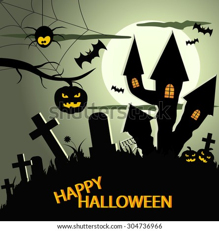 Abstract halloween background eps 10 - stock vector
