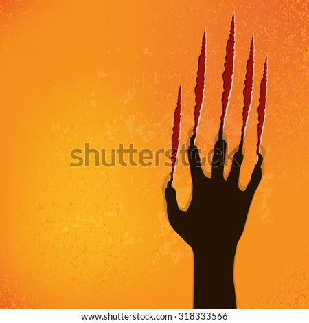 abstract halloween background, vector illustration - stock vector