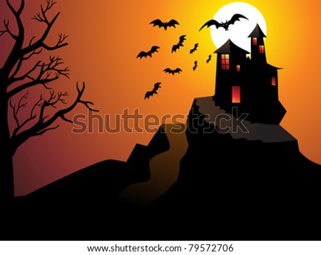 abstract Halloween wallpaper vector illustration - stock vector