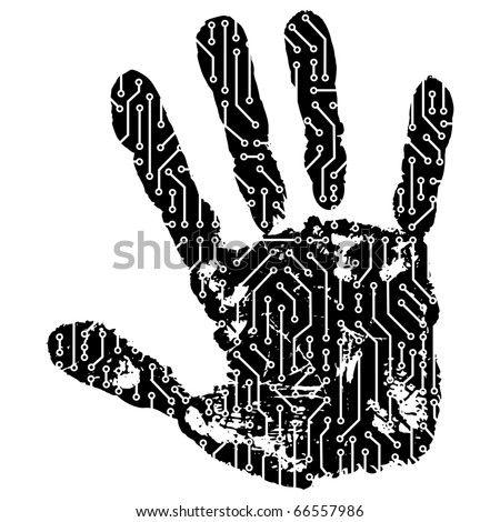 abstract hand - stock vector