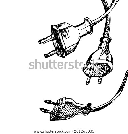 Abstract Hand Draw Sketch Background Cable Stock Vector HD (Royalty ...