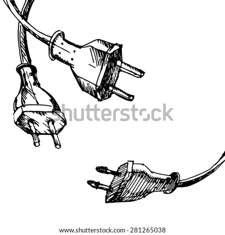 Abstract Hand Draw Sketch Background Cable Stock Vector (2018 ...