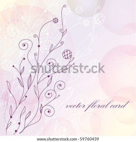 Abstract hand drawn floral background - stock vector
