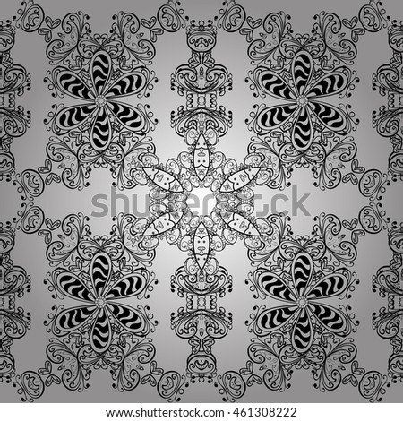 Abstract hand-drawn pattern with gray doodles. Vector illustration
