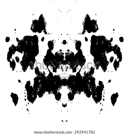 Abstract hand painted watercolor ink rorschach grunge. EPS 10 Vector Background - stock vector