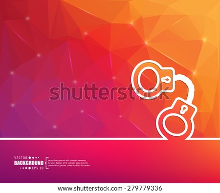 Abstract handcuff vector background. For web and mobile applications, illustration template design, creative business info graphic, brochure, banner, presentation, concept poster, cover, booklet, document. - stock vector