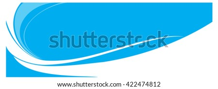 Abstract header blue wave - stock vector