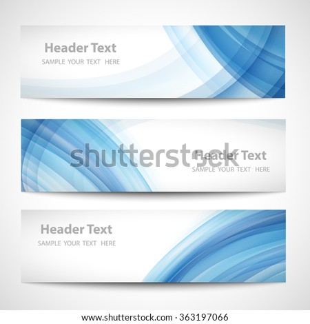 Abstract header blue wave whit vector design - stock vector