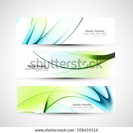 Abstract header colorful shiny wave vector design - stock vector