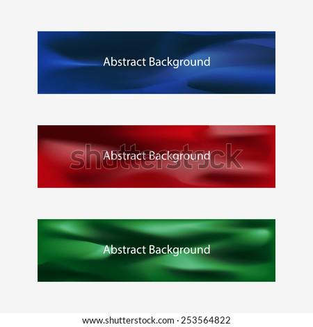 Abstract Header Designs - stock vector