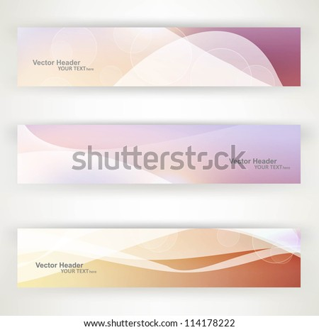 Abstract header vector bright colorful wave design - stock vector