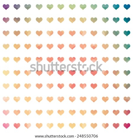 Abstract heart background. Vector illustration - stock vector