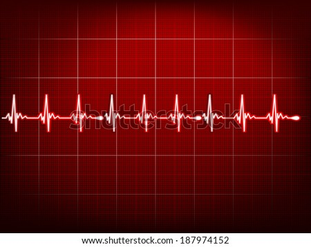 Abstract heart beats cardiogram. EPS 10 vector file included - stock vector