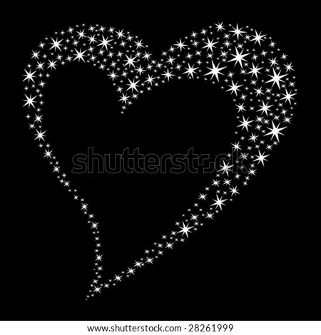 Abstract Heart composed of stars. Vector Illustration. - stock vector