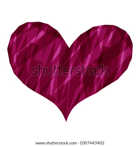 Abstract heart paint stripe jewel style : Vector EPS.10
