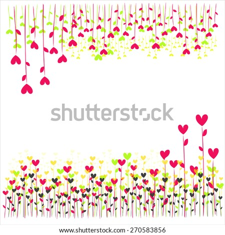 abstract heart tree - stock vector