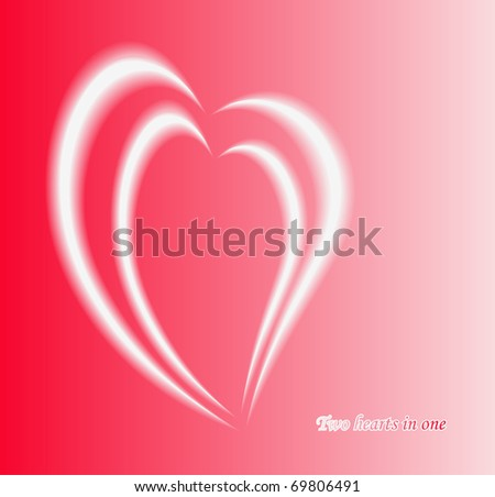 Abstract hearts  composition, two in one concept. EPS10. - stock vector