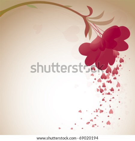 Abstract hearts flower Valentine