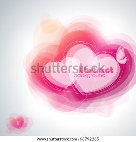 Abstract hearts. Vector illustration. - stock vector