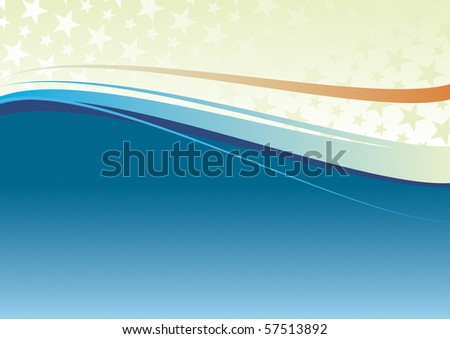 Abstract heat wavy background. Color change. - stock vector