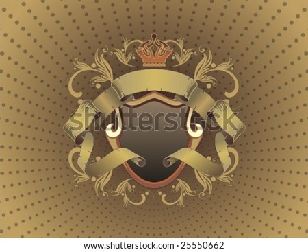 abstract heraldic sign - stock vector