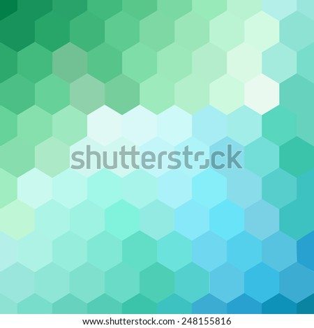 Abstract hexagon background. Colorful geometric background.  - stock vector