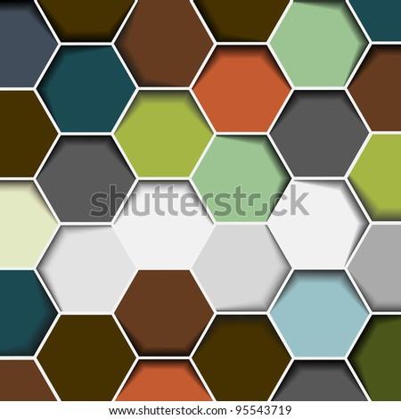Abstract hexagon background.Vector eps10 - stock vector