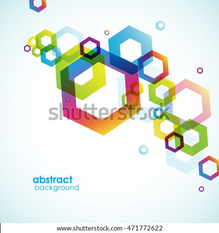 Abstract Hexagon Background Place Your Text Stock Vector 471772622