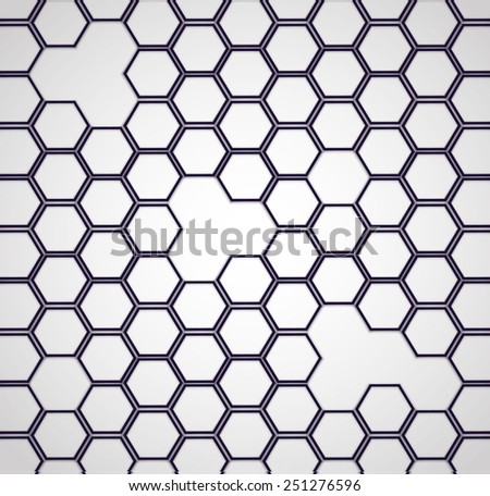 abstract, hexagon backgrounds 2D