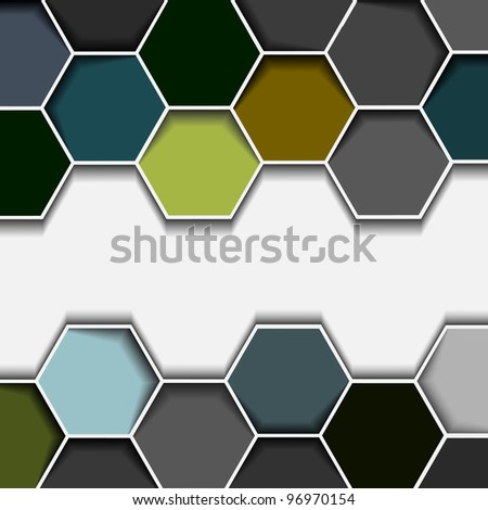 Abstract hexagon border.Vector eps10 - stock vector