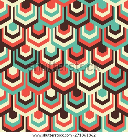 Abstract Hexagon Color Pattern - stock vector