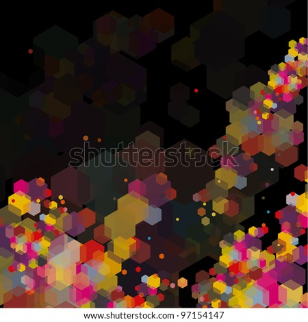 Abstract hexagon colorful background. Good for some tech situation - stock vector
