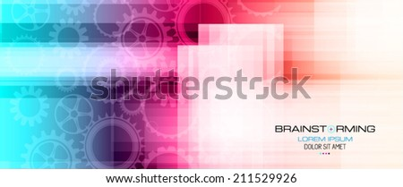 Abstract high tech background for covers or business cards. - stock vector