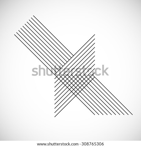 Abstract Hipster Lines Background . Vector . - stock vector