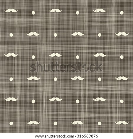abstract hipster seamless polka dot pattern on texture background - stock vector