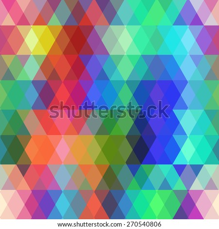 Abstract hipsters seamless pattern with colored rhombus. Geometric background. Vector - stock vector