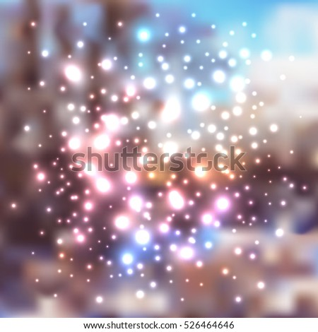 abstract holiday christmas background with lights, winter texture pattern for greeting card, poster, web, banner design, vector illustration eps10