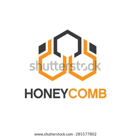 Abstract honeycomb logo vector. Beehive symbol vector. - stock vector