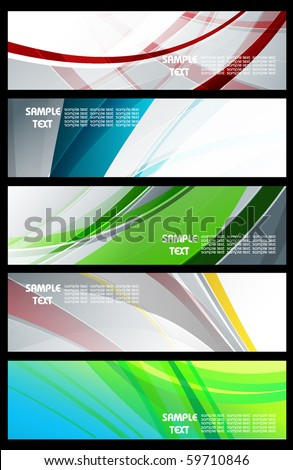 abstract horizontal banners set. Eps10
