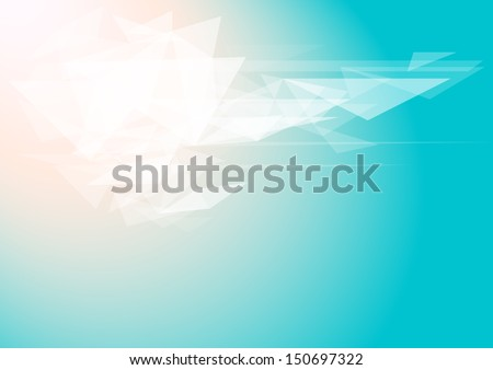 Abstract horizontal blue background with white elements. Vector version. - stock vector
