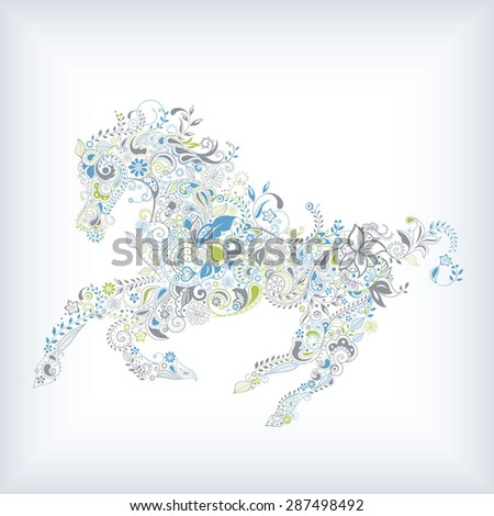 Abstract Horse - stock vector