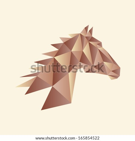 Abstract Horse Head Triangle Shapes