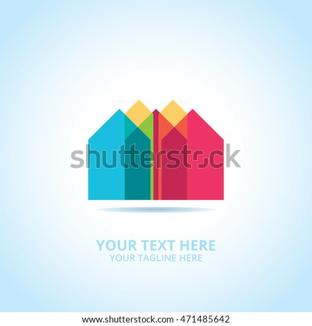 Abstract House logo, design concept, emblem, icon, logotype element for template.