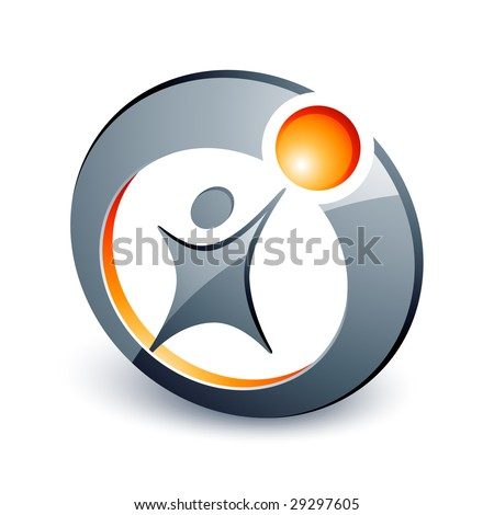 Abstract human design element - stock vector