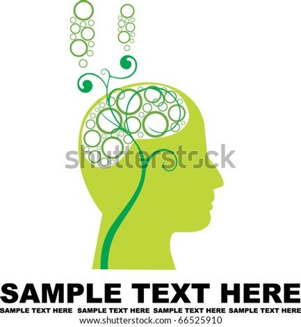 abstract human head - stock vector