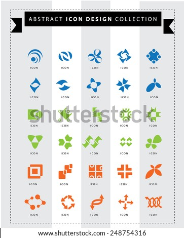 Abstract icon design elements set.  ideas for your company. - stock vector